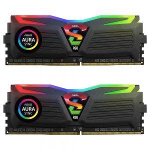 رم دسکتاپ گیل مدل دو کاناله 3200 مگاهرتز SUPER LUCE RGB ظرفیت 32 گیگابایت