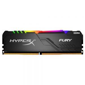 رم دسکتاپ کینگستون مدل 3200 مگاهرتز تک کاناله HyperX Fury RGB ظرفیت 16 گیگابایت
